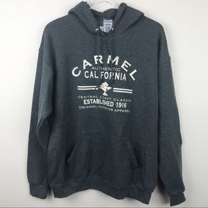 Other - NWT 'Carmel California' Men's Gray Hoodie